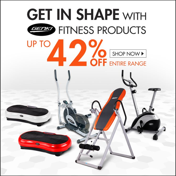 Overeat during the holiday? Get in shape with Genki fitness products, up to 42% off. #fitnessmachines #genki #exercises
