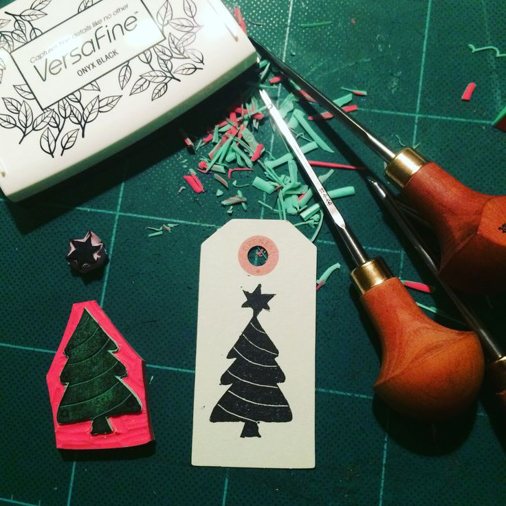 Rubberstamping for Christmas