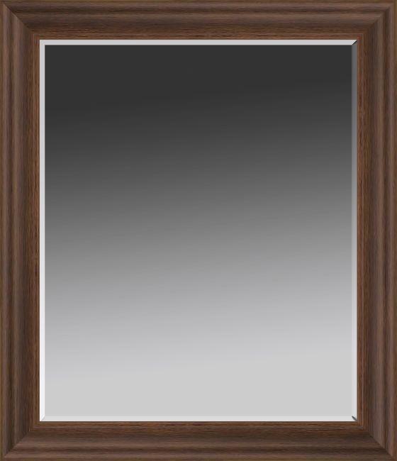 Wood Tone Traditional Wall Mirror