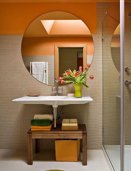 decorar lavabos redondos:Más de 1000 ideas sobre Espejos Redondos en Pinterest