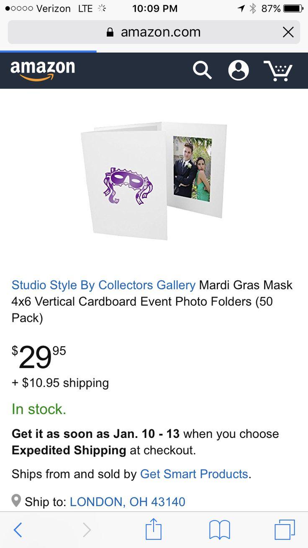 Photo folder Mardi Gras mask