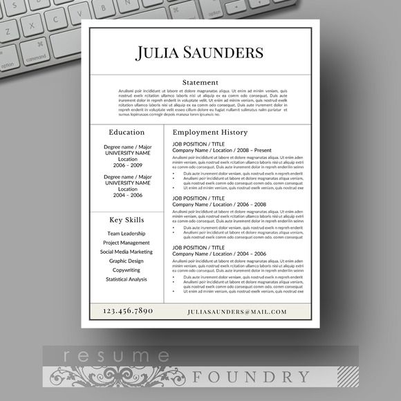 Best Creative Market Resume Templates  Instant Download Images