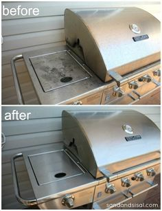 how to clean burnt stainless steel bbq