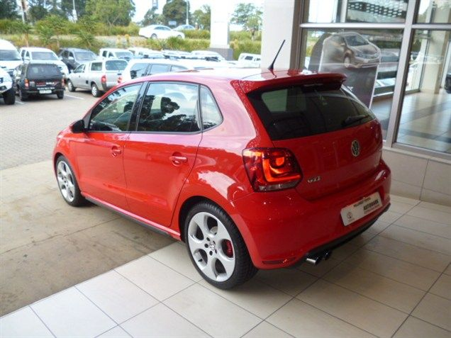 Why not choose this 2011 #Volkswagen #Polo GTi DSG #Hatchback. Red, Automatic, Mileage 32 000Kms. Priced R209 990. Extras: *ABS *Airbag - Driver & Passenger *Airbag - On/Off Switch *Audio Control on Steering Wheel *CD Front Loader *Central Locking Key *Electric Windows - Front & Back *MP3 Player *Radio/CD *Rear Window De-mister *Traction Control *Balance of Service Plan *Balance of Motor Plan Don't Hesitate, Contact Keith Rabilal Now on 082 323 1303 / 031 737 1500 or Email keithr@smg.co.za