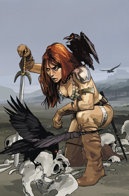 "Cool Art: 'Red Sonja #1' by Fiona Staples haha its ""me"""