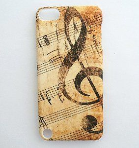 Treble Clef Music Musical Sheet Notes Vintage Pattern ipod case