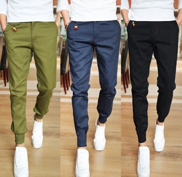 2015 Jogger Fashion Fit Mens Casual Pants New Design Business Trousers High Quality Cotton Pants Free Shipping