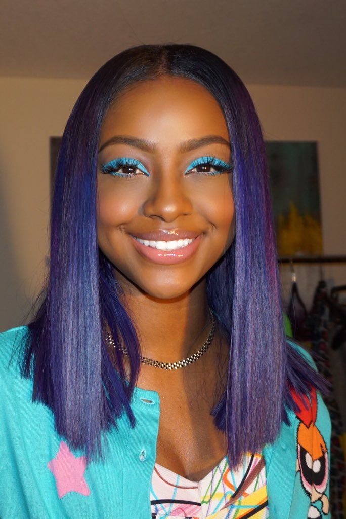 Justine Skye On Justine Skye Hair Color Cool Hair