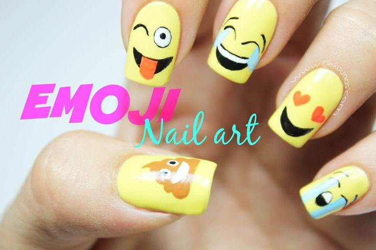 Decoración de uñas emoji - Decoración de uñas emoji