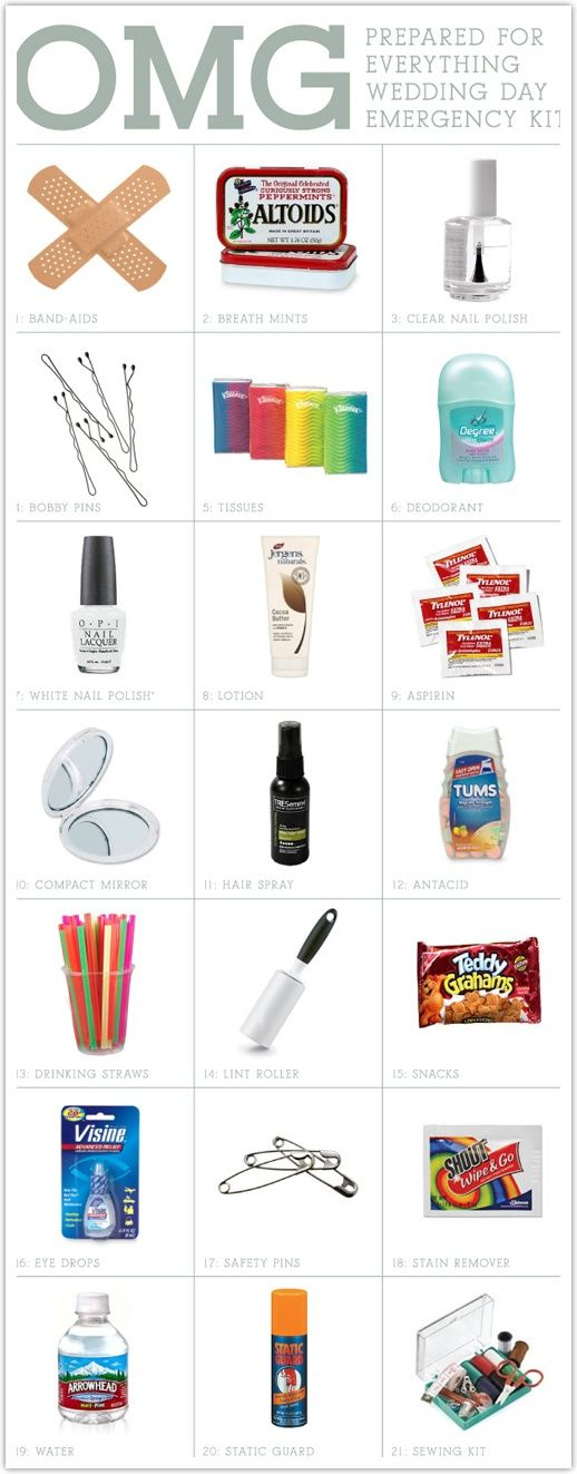 """""""Every MOH should come packin' with an Wedding Day Emergency Kit like #Birthday ideas