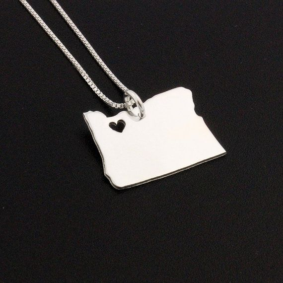 Best 25 state necklace ideas on pinterest state jewelry oregon state necklace oregon necklace sterling by silversmith925 3700 aloadofball Images