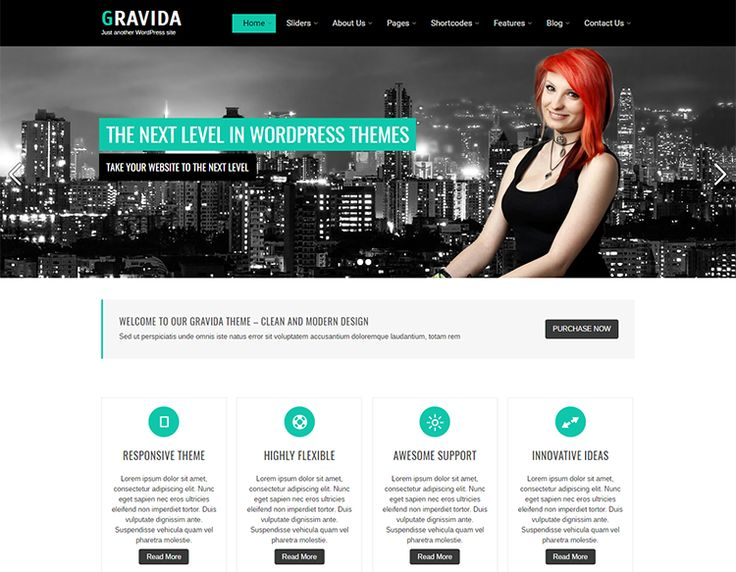 8 best free wordpress business themes images on pinterest gravida lite free wordpress theme for business accmission Image collections