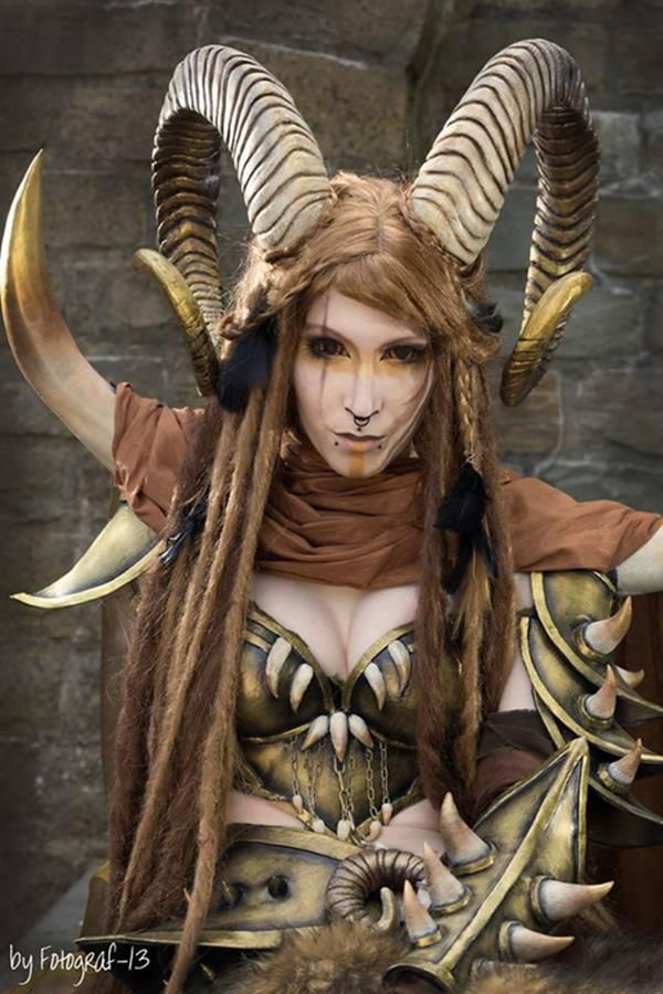 faun cosplay - click the picture for more shots of good vs. evil photoshoot. great costume inspiration!