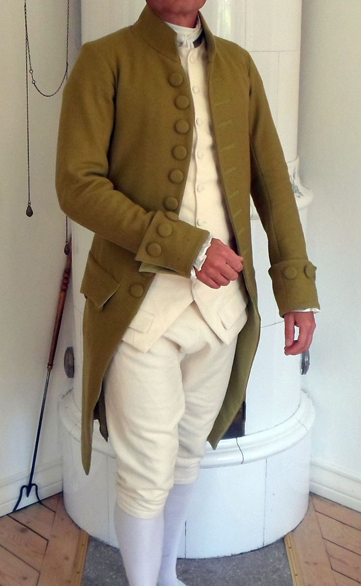images about reenactors and what they wear frock coat waistcoat and breeches from 1780 1790 patterns all in wool fashion 18th century18th
