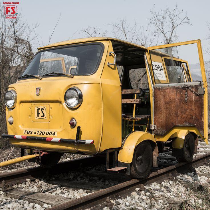 """Draisina FIAT 500 utilizzata per le riprese del film """"Un viaggio di cento anni"""" di Pupi Avati"""