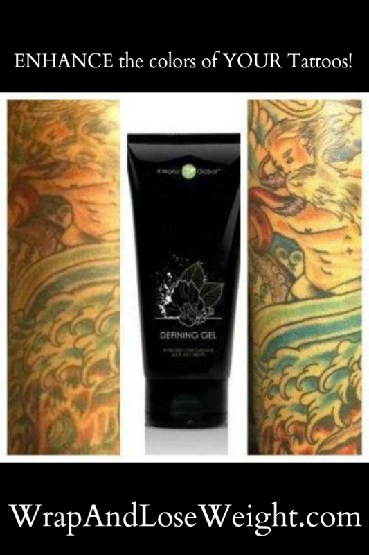 Easily ENHANCE the colors of your tattoos! Look your best and find out all about our Defining Gel today!