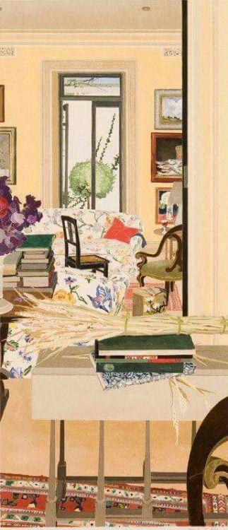 Interior with Wheat - Cressida Campbell 1996 Australian b.1960-