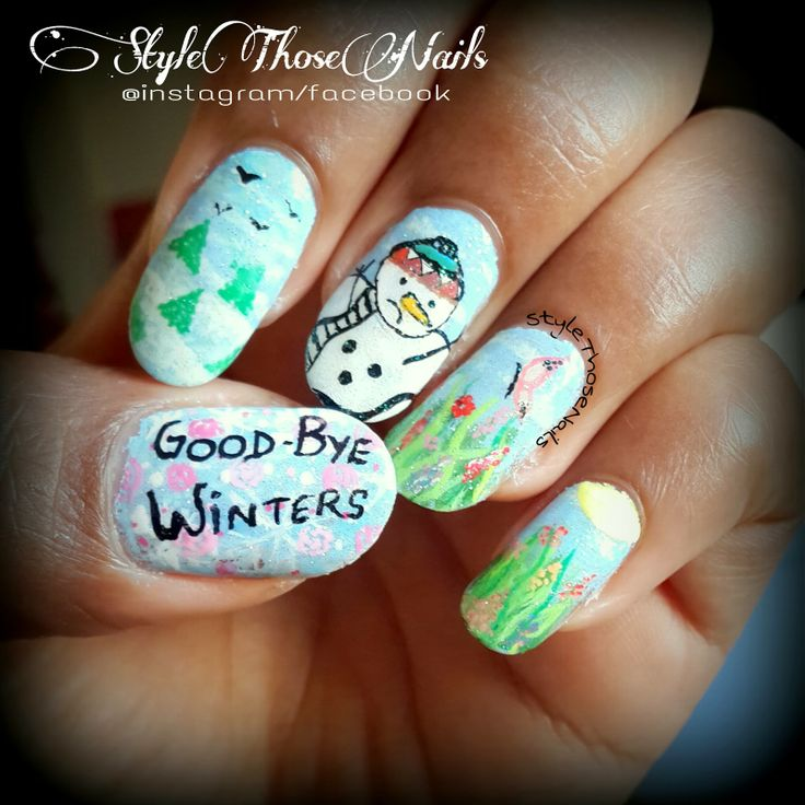 Style Those Nails: Once Upon a Time There was a Snowman- Last Winter Nail art 2014