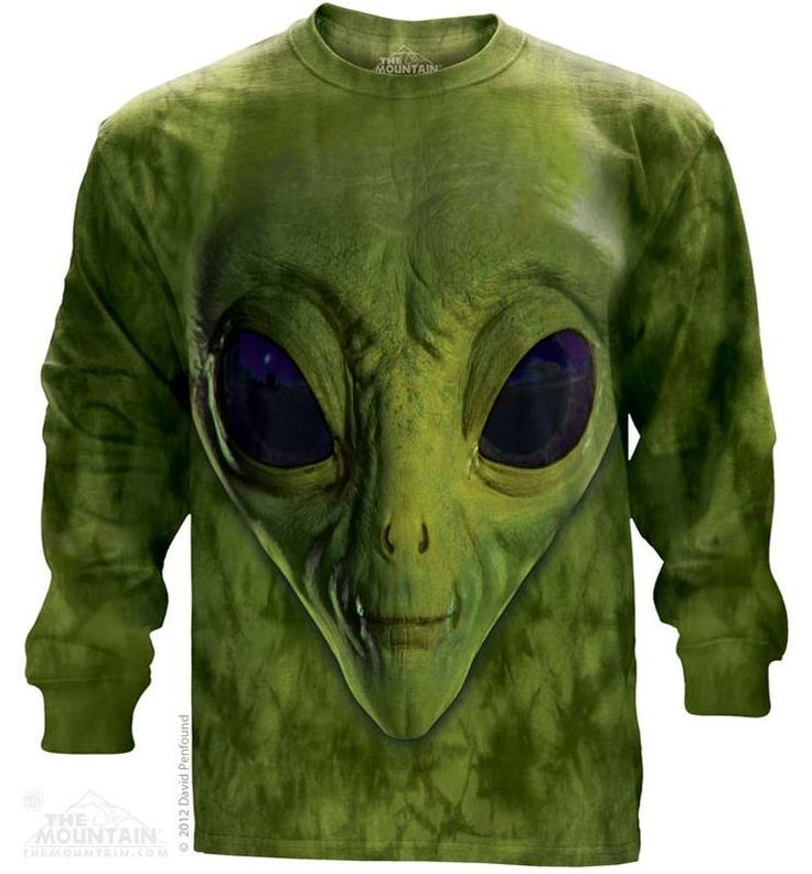 Green Alien Long Sleeve T-Shirt - 30% DISCOUNT ON ALL ITEMS - USE CODE: CYBER  #Cybermonday #cyber #discount