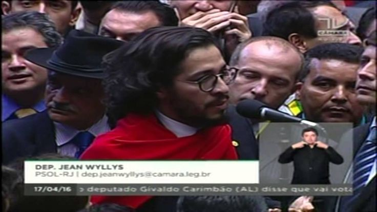Votação do Impeachment - Dilma - 2016 - Dep Jean Wyllys - Voto Pela Demo...