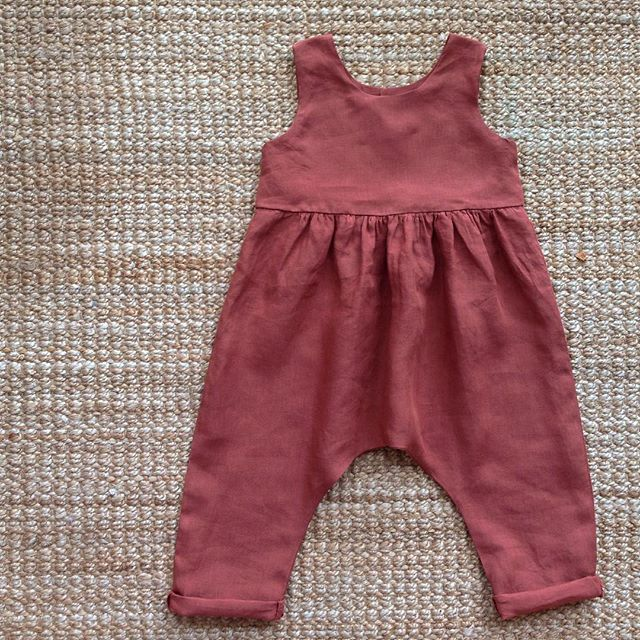 Linen jumpsuit for my baby #lacasettaincanada