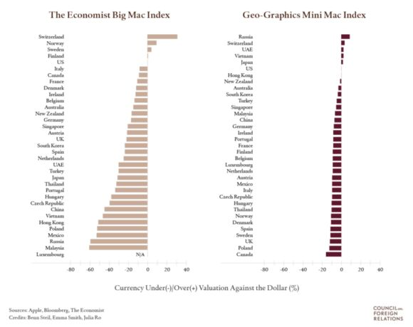 Image result for How Fairly Valued is China's Currency? Big Mac and Mini Mac Square Off Again.