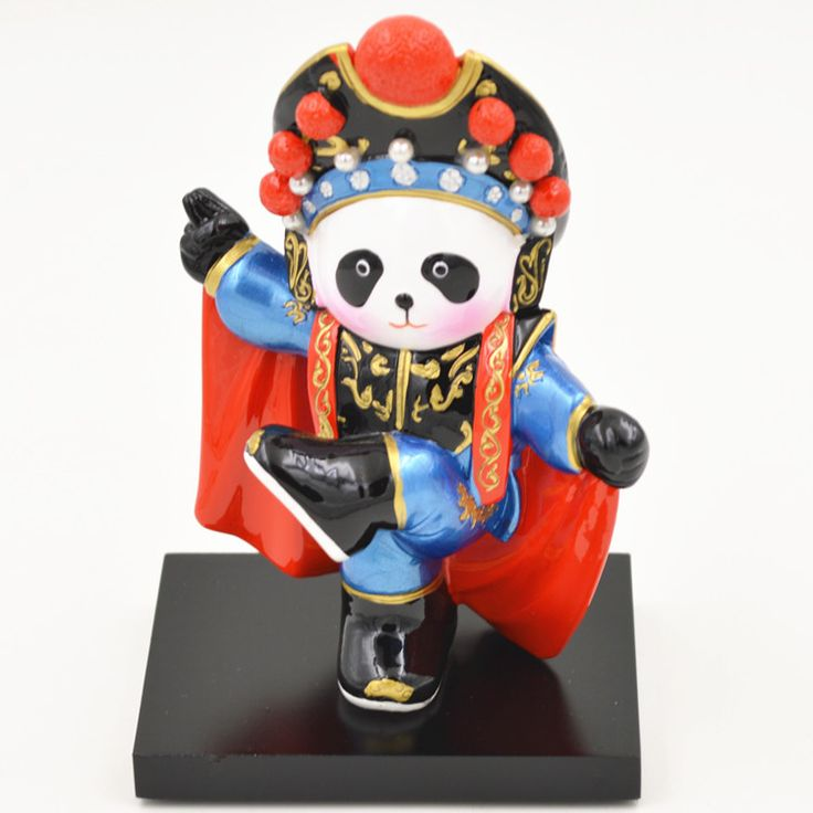 Kung Fu Panda Nan Quan North Leg Q Version Of Peking Opera Cartoon Desktop Ornaments Home Decoration Crafts Holiday Gifts