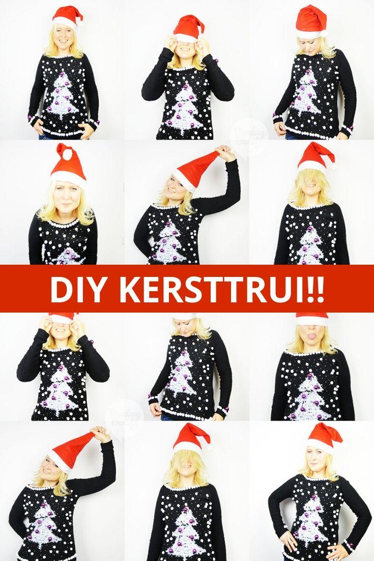 Foute Kersttrui Zelf Maken.Diy Foute Kersttrui Dazzling Beauty Blog Pinterest Kerst