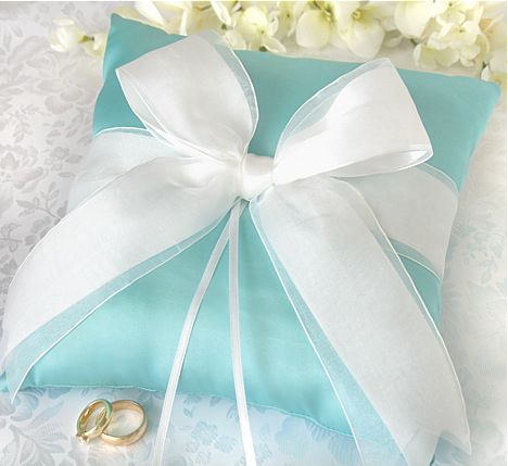 Tiffany Blue Ring Bearer Pillow
