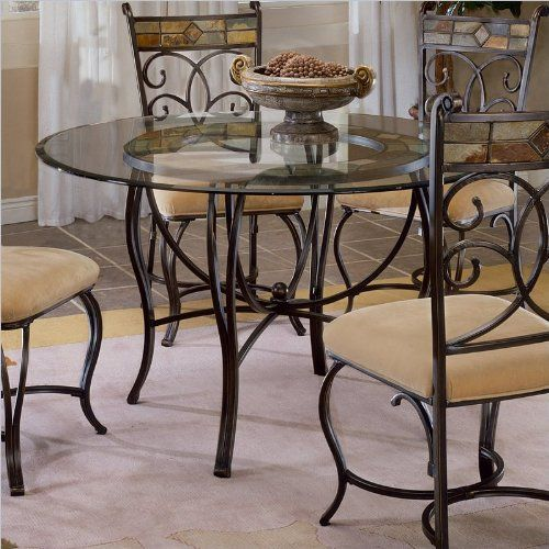 Round GlassTop Dinette Table Details Can Be Found By Clicking On The Image