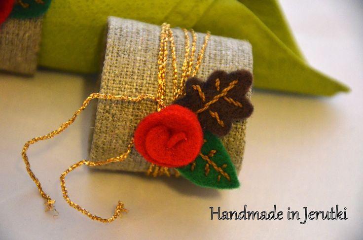 Handmade in Jerutki: Pierścienie na serwetki wersja 2 / Napkin rings