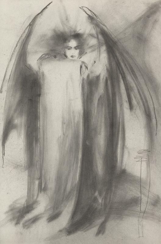 Jon Jay Muth - Female Vampire sketch, in GaryMorita's Sketches/Prelims Comic Art Gallery Room - 194201