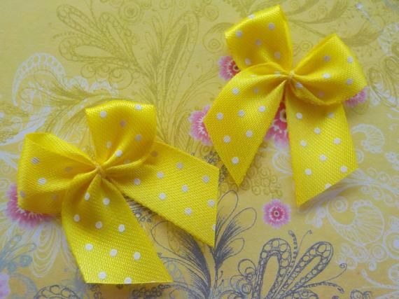 100 Pretty Polka Dot Bows Perfect Pinks Bow Embellishments For Cardmaking!