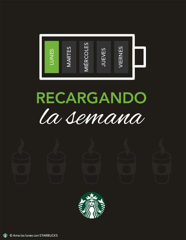 #AmaLosLunes #Starbucks #motivacion #ilustracion ¡Recargando la semana!