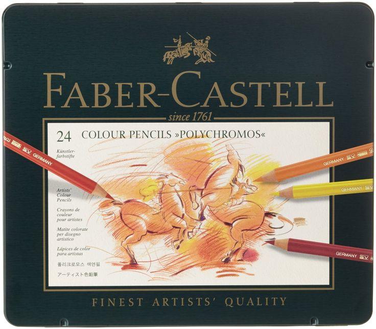 Faber-Castell 110024 - Künstlerfarbstift, 24 Polychromos Metalletui: Amazon.de: Spielzeug