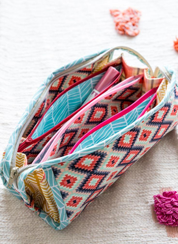Lieblingsschnittmuster für ein Stiftemäppchen – Sew Together Bag