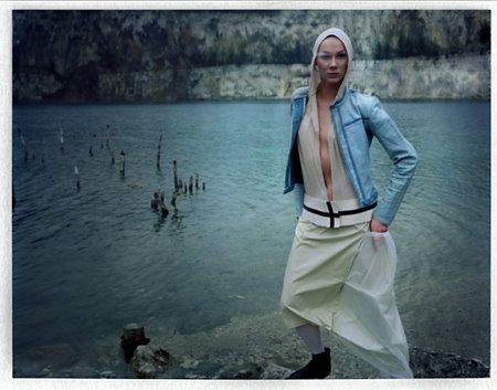 outfit: jacket - Sara Damm, bodytop & skirt - Małgorzata Czuchraj,  model: Beata Augustyniak photo: Murgrabia