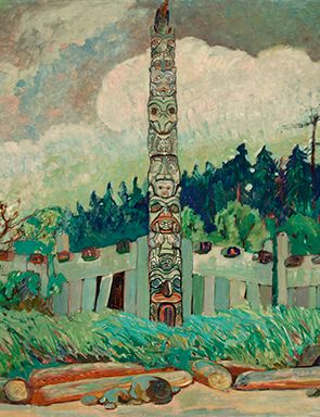 Emily Carr, Tanoo, Queen Charlotte Island, BC, 1913 (detail), Image PDP02145 courtesy of Royal BC Museum, BC Archives, Canada.