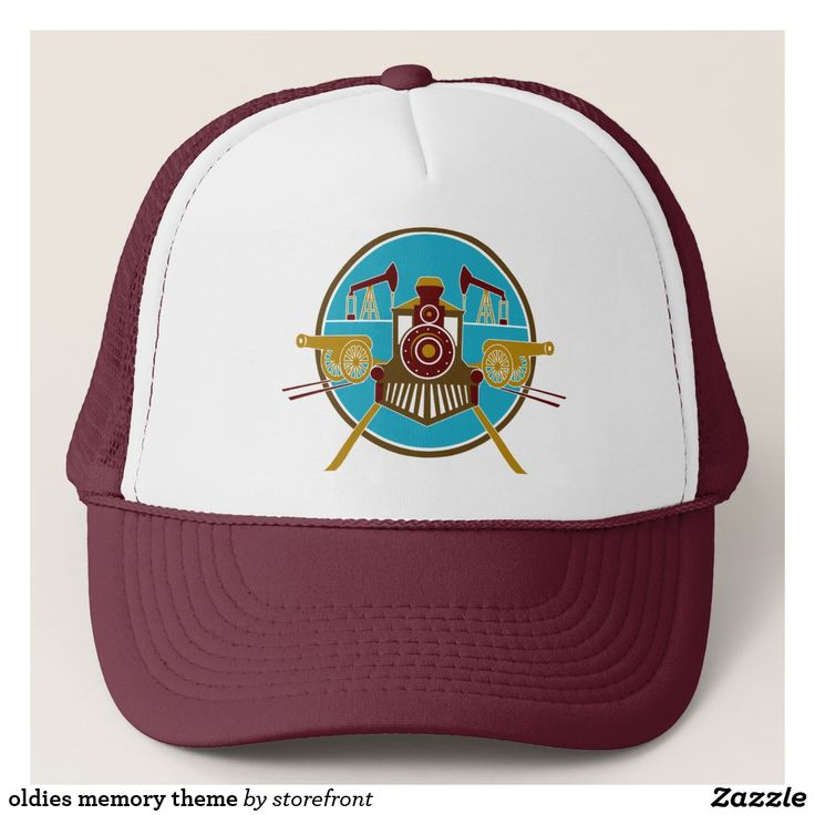 oldies memory theme trucker hat