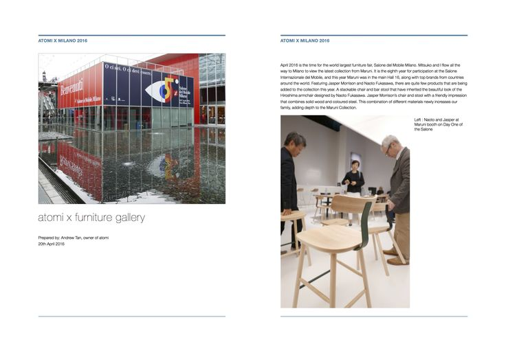 Read about atomi in Milan and what are some of the latest collection we are bringing into Singapore!