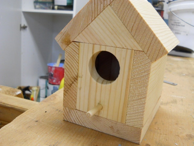 Love the possibilities  Small Pine Wren Birdhouse. $5.00, via Etsy.
