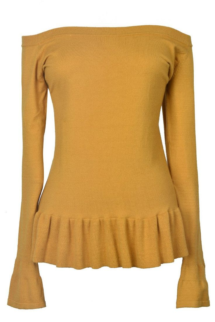 J&B Sophisticated Lady Falbala Sweater for Warm Autumn