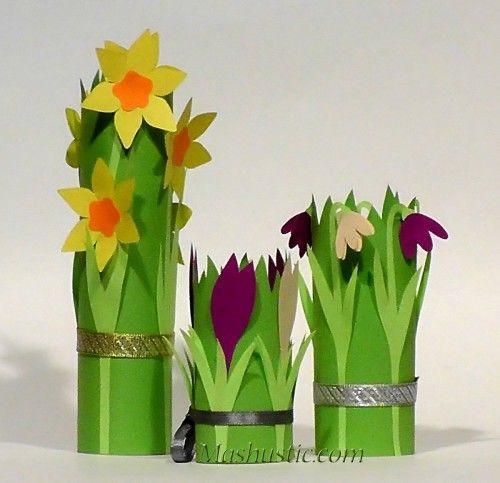 Шаблоны цветов из бумаги