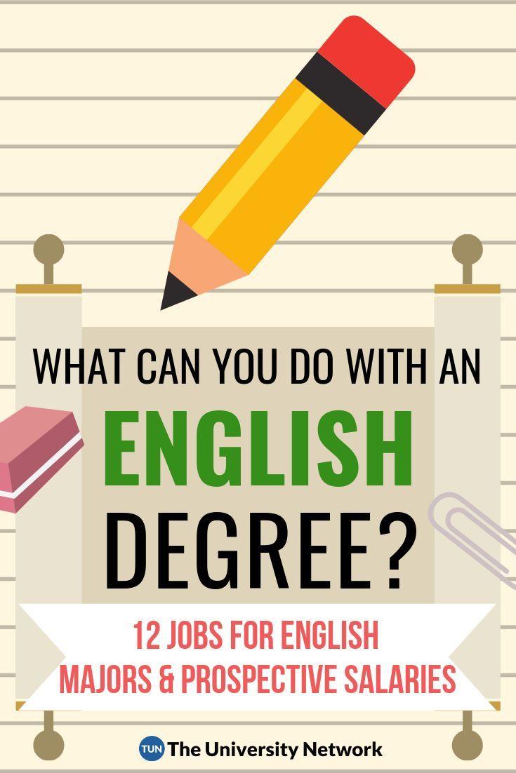 12 Jobs For English Majors The University Network English Major English Degree Scholarships For College