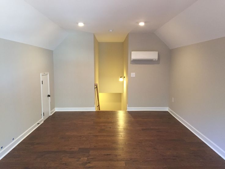 A finished bonus room over the garage with a zone hvac in for Above garage bonus room ideas