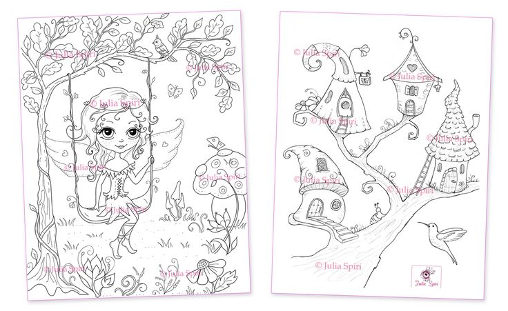 Coloring Book Whimsical Dreamas