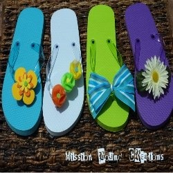how to make ninja shoes out of flip flops