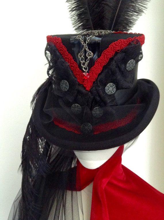 Gothic Steampunk Kette Korsett Reiten Zylinderhut von Blackpin