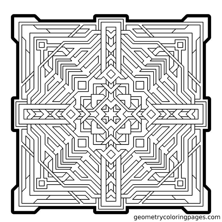 221 best adult coloring pages images on pinterest | coloring books ... - Coloring Pages Patterns Geometric