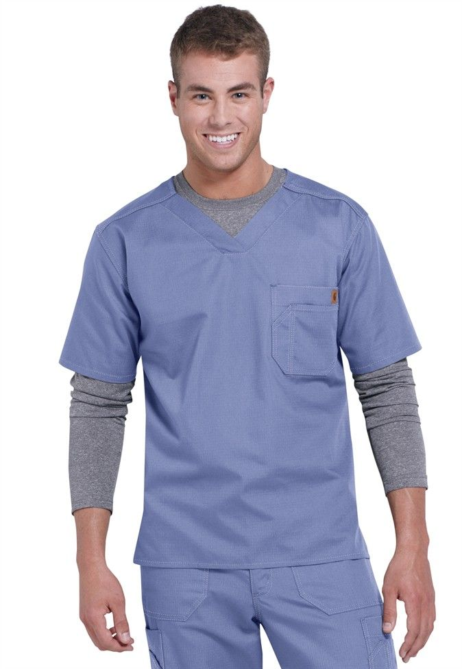 Carhartt mens v-neck scrub top in Ceil | Scrubs and Beyond
